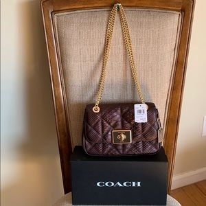 Coach Cassidy Quilted Leather Phyton Oxblood
